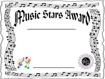 Award for the Music Classroom - EDITABLE!!!