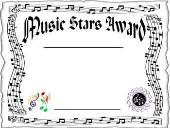 Award for the Music Classroom - EDITABLE!!!