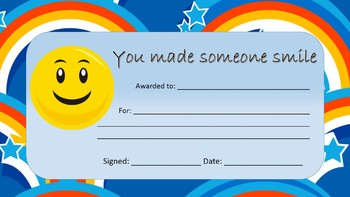 Award - you made someone smile