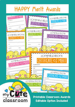 Printable Happy Merit Awards