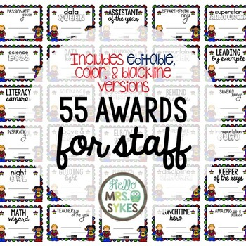 Awards for Staff and Teacher Appreciation