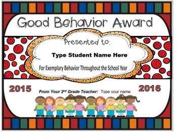 End of the Year Awards ~ Editable