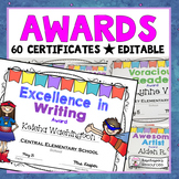 Awards - Editable Super Hero Awards