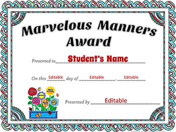 Award Certificates - EDITABLE