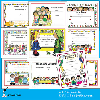Awards ALL YEAR AWARDS (Preschool Kindergarten) PDF