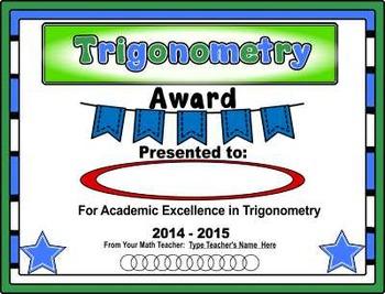 Awards, Awards, Awards! ~ Math