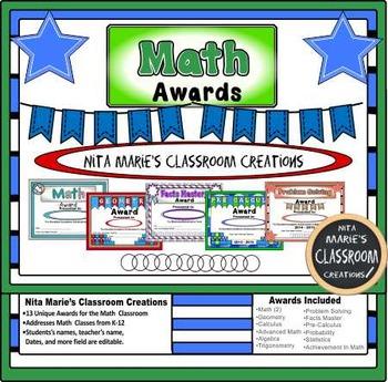 Math Awards by Nita