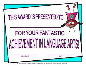 Awards-Awards Day-Achievement & Excellence Awards-Year Round Superhero Clip Art