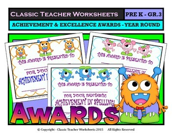 Awards - Awards Day-Achievement and Excellence Awards Year Round -Pre K to Gr. 3