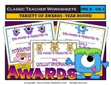 Awards - Awards Day - Variety of Awards - Year Round - Preschool to Grade 3