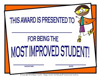Awards - Awards Day - Variety of Awards - Year Round - Superhero Clip Art