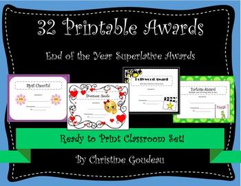 Awards Bundle - 32 Printable Classroom Awards