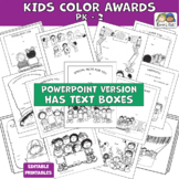 Awards CLASSROOM AWARDS Kids Color - (Karen's Kids Editabl