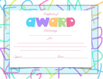 Awards Certificates 3 pack