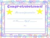 Awards Certificates 3 pack
