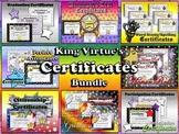 Certificates / Awards - End of Year BUNDLE - Editable Stars Theme - King Virtue
