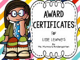 Awards Certificates For Little Learners