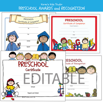Awards & Certificates Preschool