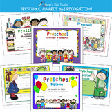 Awards PRESCHOOL AWARDS and CERTIFICATES (Karen's Kids Editable Printables)