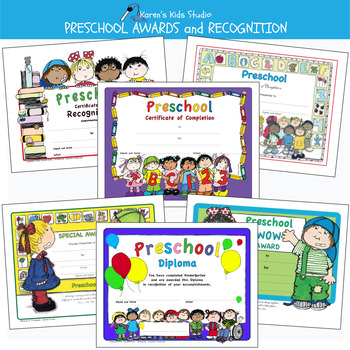 image relating to Printable Preschool Diplomas titled Awards PRESCHOOL AWARDS and CERTIFICATES (Karens Little ones Editable Printables)
