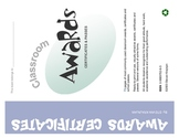 Awards, Certificates and Passes for students - printable c