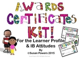 Awards Certificates for IB PYP with African American clip art Kids.
