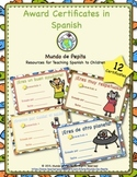Awards Certificates in Spanish! Printable Resources for Sp