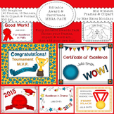 Awards and Certificates - Frames, Clipart and Wordart