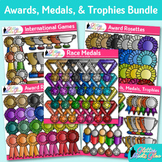 Awards Clip Art Bundle | Ribbons, Trophy, Badges, Medals for Award Certificates