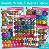 Awards Clip Art Bundle: Ribbons, Trophy, Badges, Medals {Glitter Meets Glue}