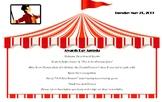 Awards Day Agenda for The Greatest Showman or Circus theme (editable)