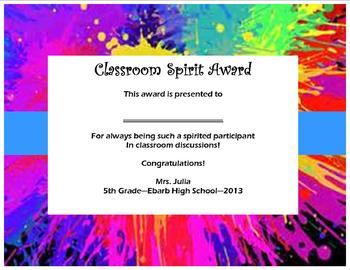 Awards Day Certificates that are CUTE!
