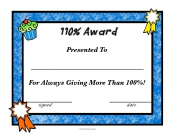 End of Year Awards Day Certificates