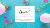 Awards Day- Editable