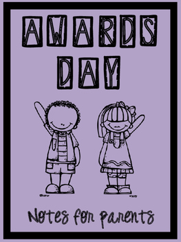 Awards Day Parent Note