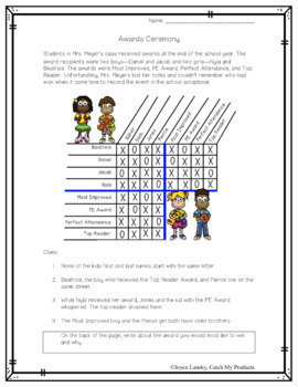 End of the Year Activities (Activity) : Logic Puzzle Print & Go Awards Ceremony