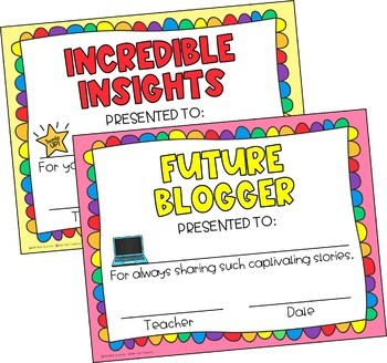 End of the Year Awards | Superlative Certificates