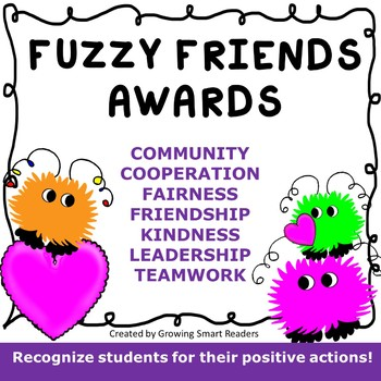 Awards- Warm Fuzzy Friends