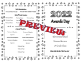 Awards/Graduation Day Program Program (Fully Editable)