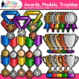 Classroom Award Clip Art | Medals & Trophies for International Games, Field Day
