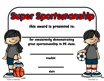 Awards - PE Recognition Certificates