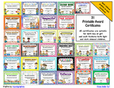 Awards - Printable Certificates for Recognition - MULTICULTURAL SKIN TONES