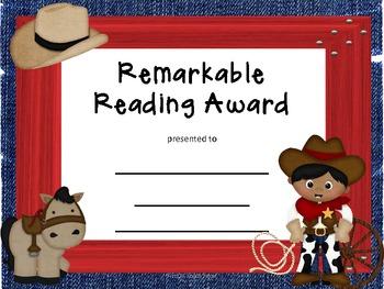 Awards Reading