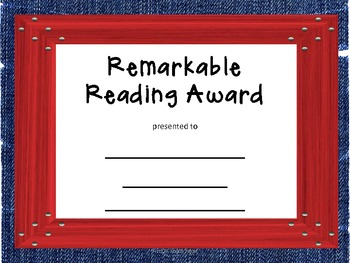 Awards Reading
