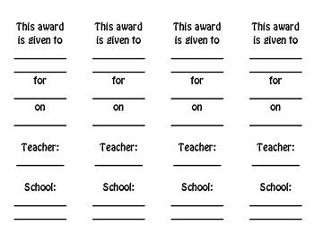 Awards: Reading 3