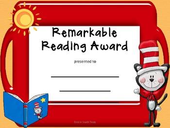 Awards Remarkable Reading Award