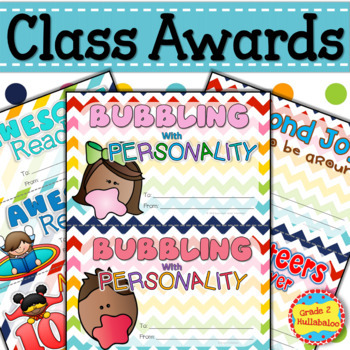 Awards, Report Card for Teacher, and Wish List for Students