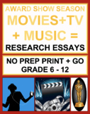Movie and Music Research Paper Project: Award Show ELA
