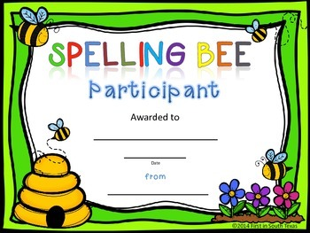 Awards - Spelling Bee