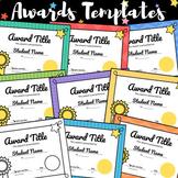 Awards Templates